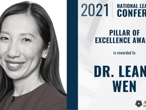 2021 Addiction Policy Forum Pillar of Excellence Award to Dr. Leana Wen