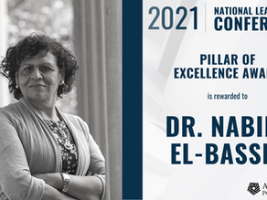 2021 Addiction Policy Forum Pillar of Excellence Award to Dr. Nabila El-Bassel