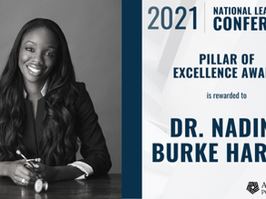 2021 Addiction Policy Forum Pillar of Excellence Award to Dr. Nadine Burke Harris