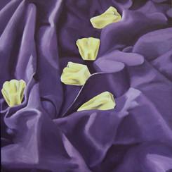 Scarf Study: Purple Pineapple