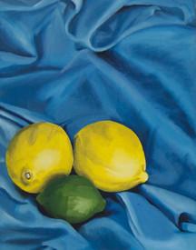 Scarf Study: Blue Citrus