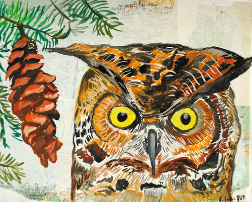 Owl & Pine Cone, 2016