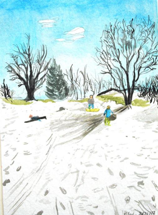 Spring Sledding, 2017