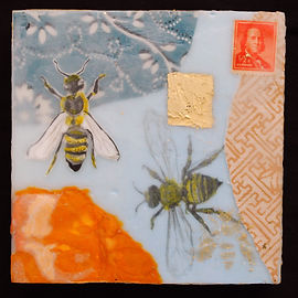 Bee and Ben Franklin, 2017 (sold)