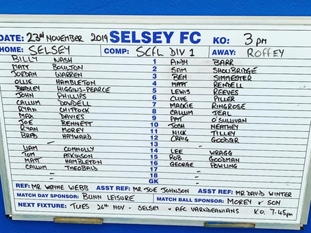 BIG 3 POINTS AT THE SEASIDE FOR ROFFEY (HIGHLIGHTS AND MATCH REPORT)