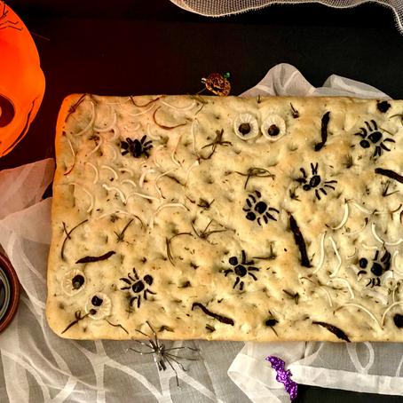 Halloween Special: Creepy Crawly Focaccia Bread