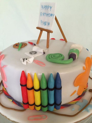 Cake for an art and craft lover