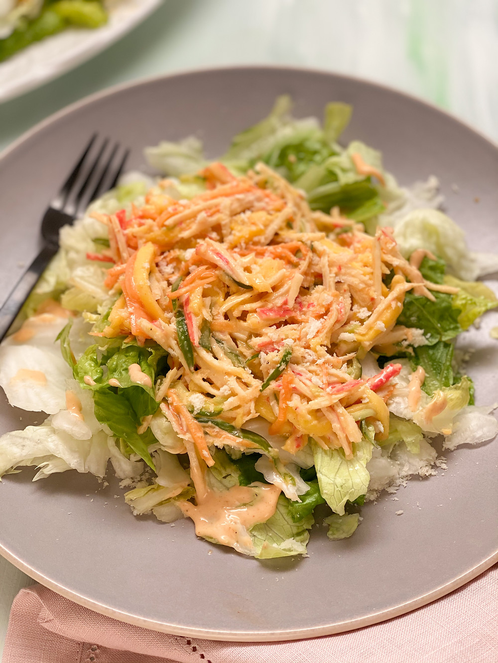 spicy mango kani salad