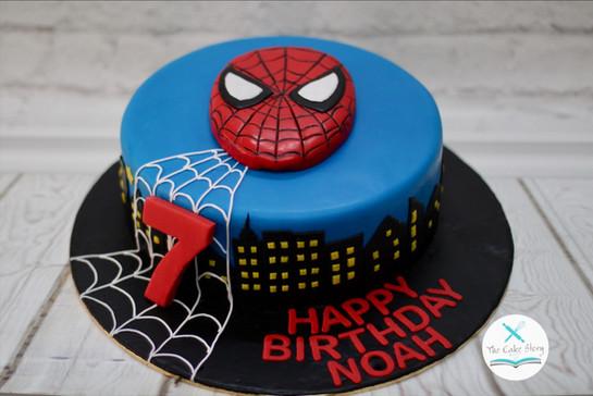 The friendly spidey cake