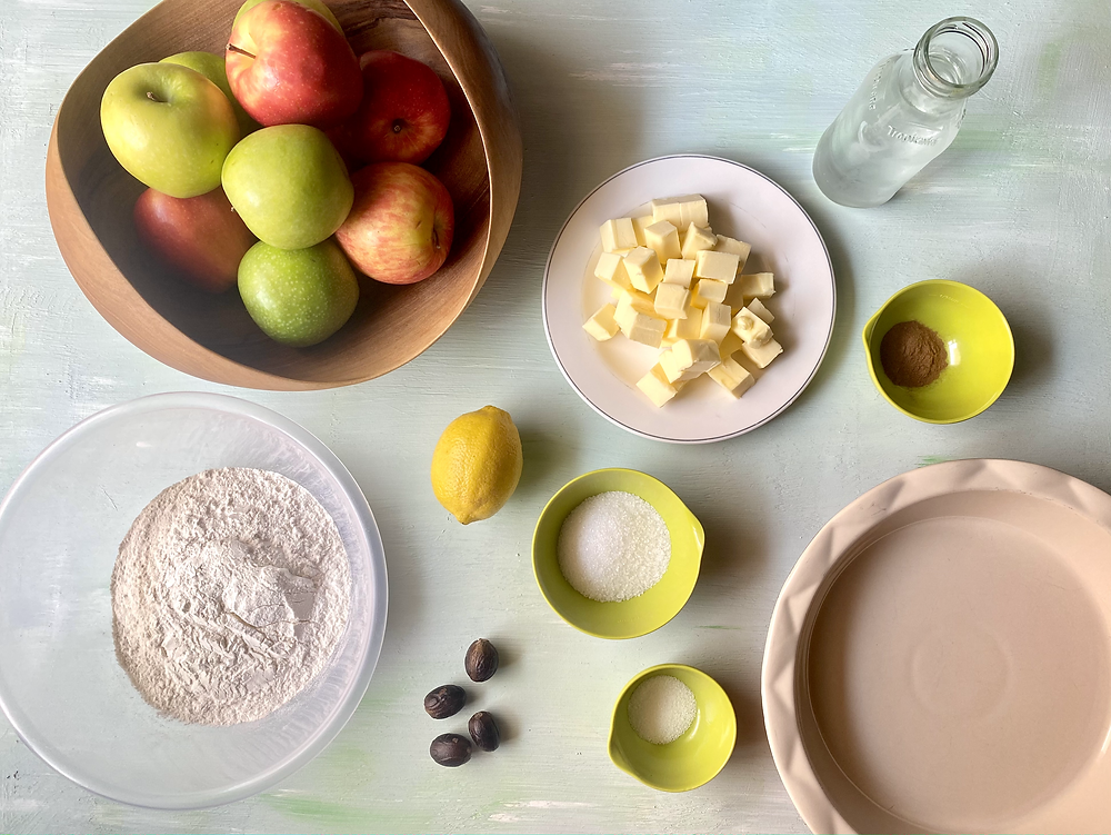 ingredients for a classic apple pie