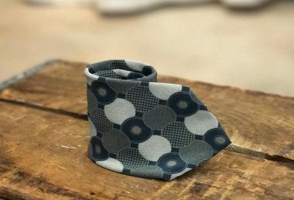 Grey 100% Silk Tie