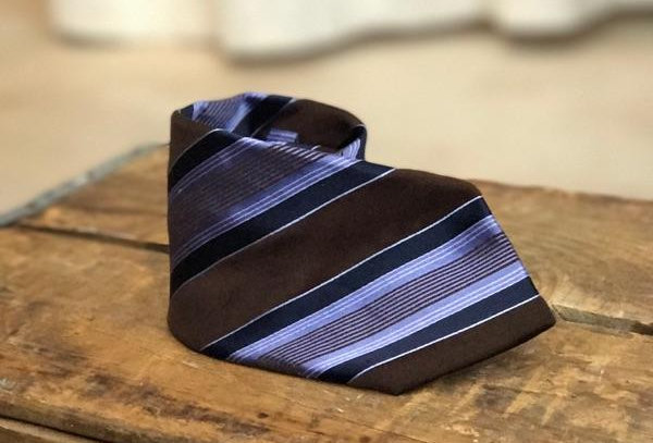 Vintage Striped Pure Silk Tie
