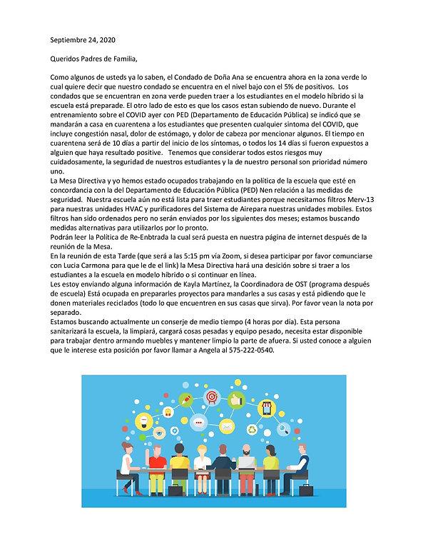 8. Spanish september 23 parent newslette