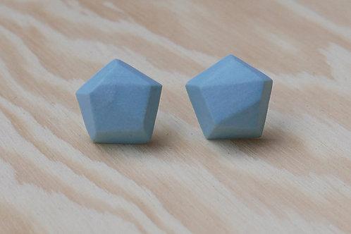 Diamant earstuds, light blue