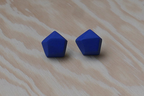 Diamant earstuds, dark blue