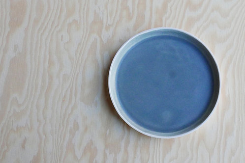 Vei small plate, grey blue