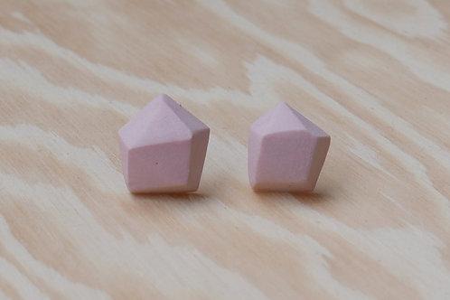 Diamant earstuds, pink