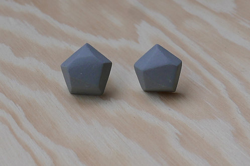 Diamant earstuds, grey