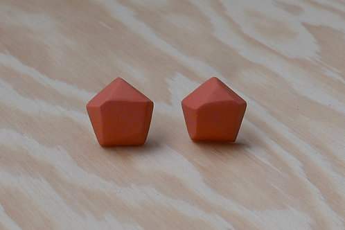 Diamant earstuds, orange