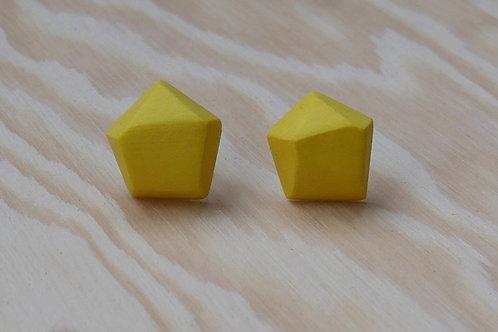 Diamant earstuds, yellow