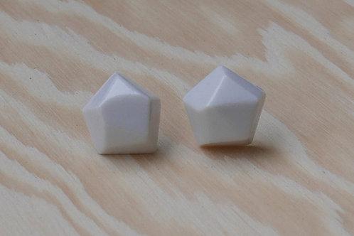 Diamant earstuds, white