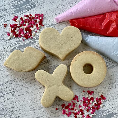 1/2 Dz Valentine Cookie Decorating Kit