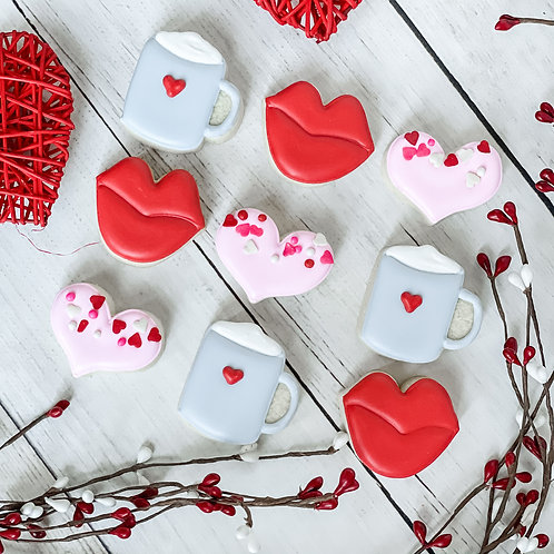 3 pack valentine mini cookies