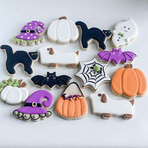 1 Dozen Assorted Halloween Cookies