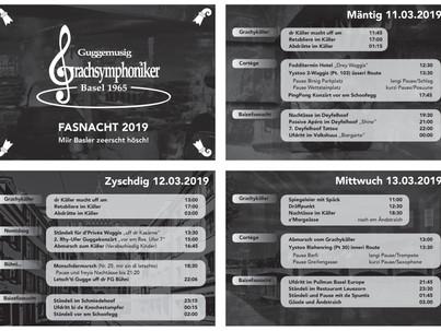 Programm Basler Fasnacht 2019