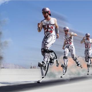 The Fastest Man On Stilts