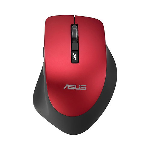 Asus WT425 Mouse - USB 2.0 - Optical - Red - Cable - 1600 dpi - Scroll Wheel - R