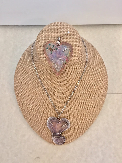 GINGER SIEMANS GLASS HEART NECKLACES starting at