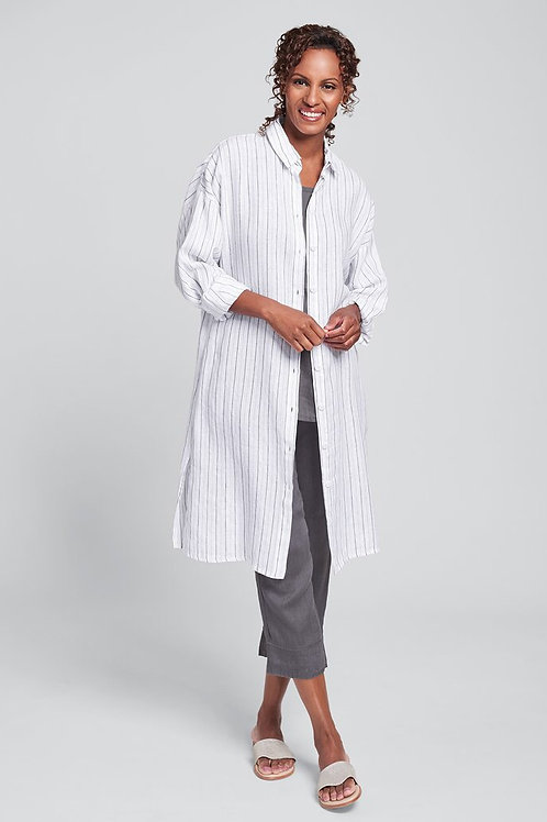 FLAX SHIRT DRESS