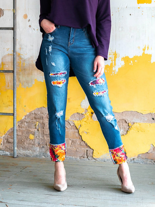 L&B Patch Skinny Jeans