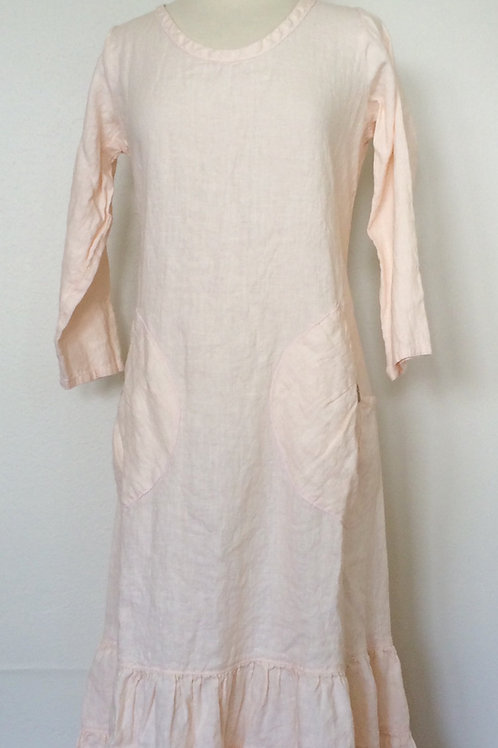 SALE PRAIRIE DRESS LONG SLEEVE LINEN staring at...