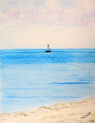 S06 SAILING ON PALE BLUE