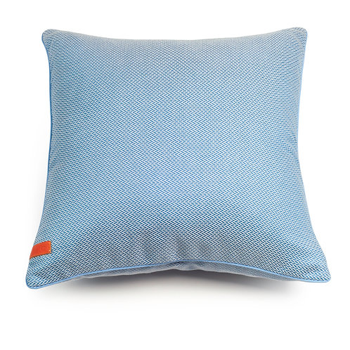 Sky Blue Herringbone cushion