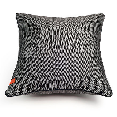 Herringbone Charcoal cushion
