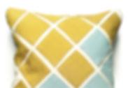 White/Blue Steelcut and Yellow Tokio by Kvadrat on All Kvadrat Squares.
