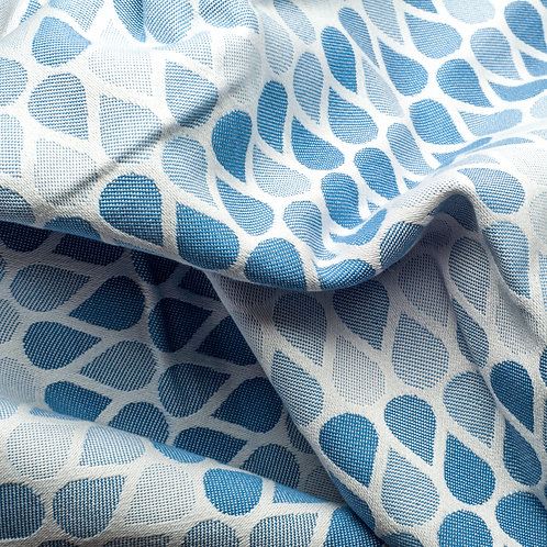Waterdrops Blue throw