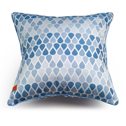 Waterdrops Blue cushion
