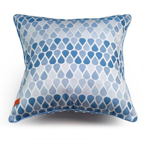 Waterdrops Blue cushion