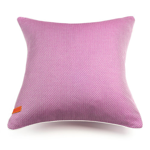 Herringbone Orchid Pink cushion