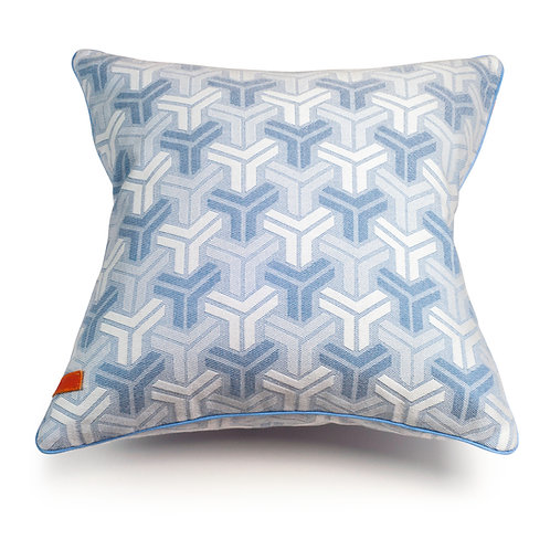 Trio Blue cushion