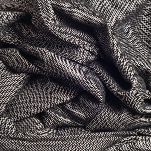Herringbone Charcoal throw