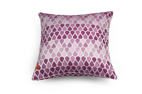 Waterdrops Raspberry Pink Cushion