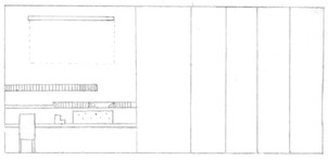 Elevation of Library Wall & Screen