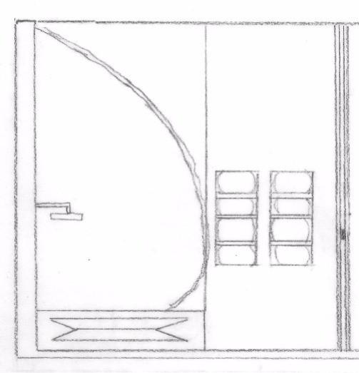 Elevation of Bathroom Shower/Tub