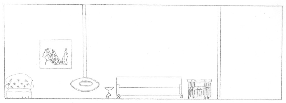 Elevation of Living Room Area