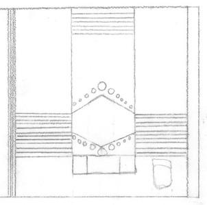 Elevation of Bathroom Mirror & Sink